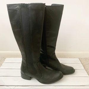 Tall black Born Boots Sz 10